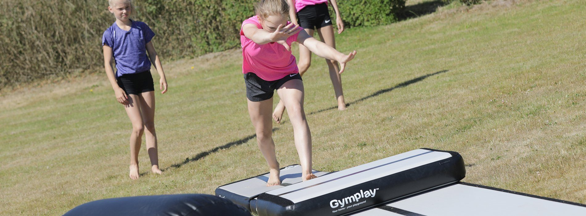 GymPlay H15 airtrack with double rail the toughest airtrack on the market