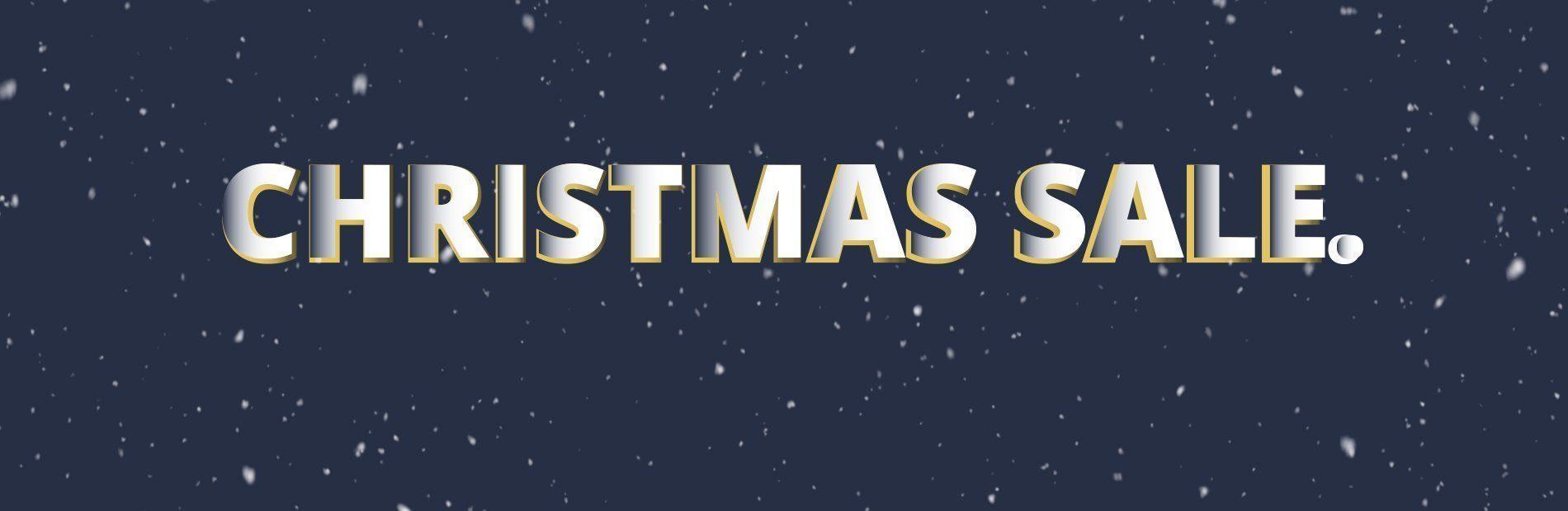 christmas sale banner blue